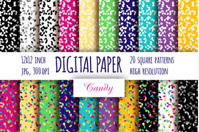 Abstract digital paper. Multi color cake topping paper