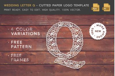 Wedding Letter Q - Logo Template