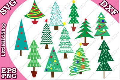 Christmas tree svg, Christmas tree clipart,Christmas Bundle