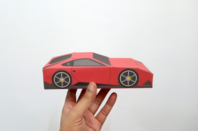 DIY Ferrari favor - 3d papercraft