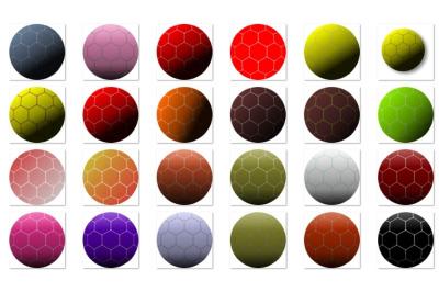 Colorful Football balls