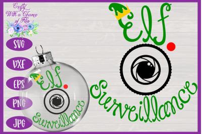 Christmas Ornament SVG | Elf Surveillance SVG | Bauble SVG