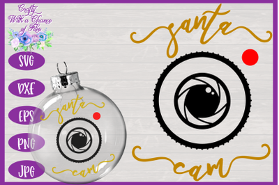 Christmas Ornament SVG | Santa Cam SVG | Bauble SVG