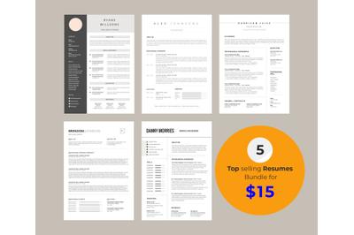 Resume bundle 5 in 1