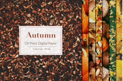Oil Paint Autumn Backgrounds
