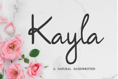 Kayla - Siganture Font