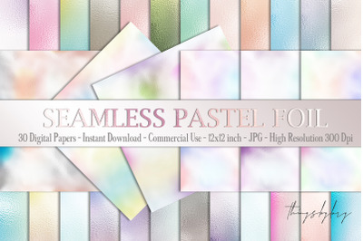30 Seamless Ombre Pastel Metallic Foil Texture digital papers