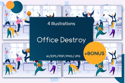 Office Destroy Flat Collection