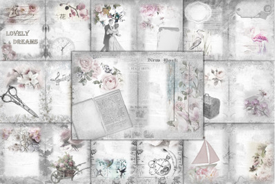 24 Printable Background Paper with Free Clipart