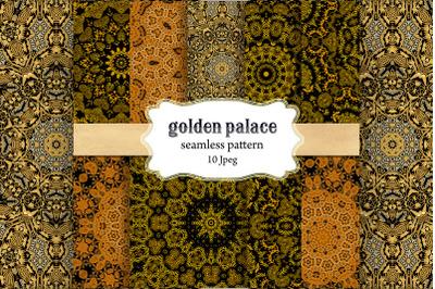 Gold Patterns , Palace decor ,Seamless Patterns ,digital