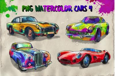 PNG watercolor cars 4