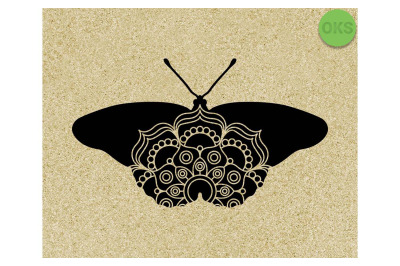 butterfly mandala SVG cut files, DXF, vector EPS cutting file