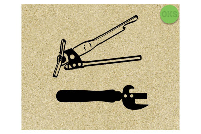 can opener SVG cut files, DXF, vector EPS cutting file