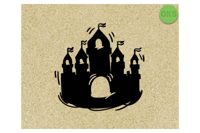 castle SVG cut files, DXF, vector EPS cutting file instant download