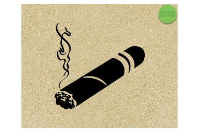 cigar SVG cut files, DXF, vector EPS cutting file instant download