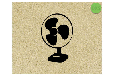 electric fan SVG cut files, DXF, vector EPS cutting file