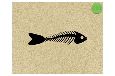 fish bone SVG cut files, DXF, vector EPS cutting file instant download