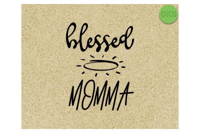 blessed momma SVG cut files, DXF, vector EPS cutting file