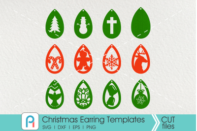 Christmas Earrings Template Svg, Earrings Template Svg, Earrings Svg