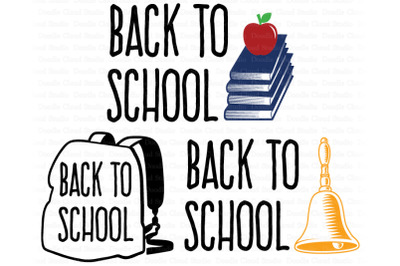 Back To School SVG, 1st Day of School SVG Files.