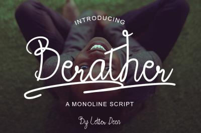 Berather a Monoline Script Font