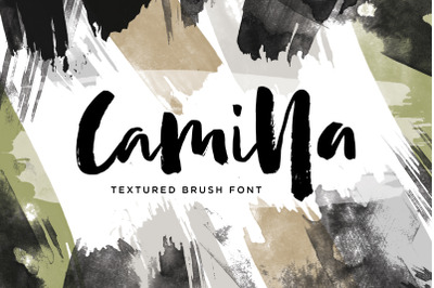 Camilla - Textured Brush Font (3 Font)
