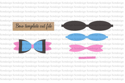 bow template svg cut file, bow design, bow silhouette cut