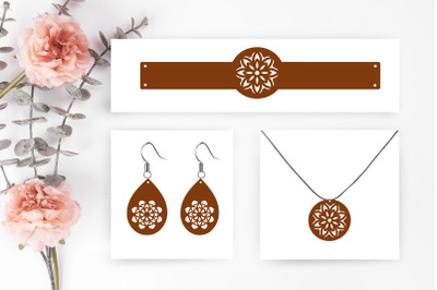 set jewelry earrings svg cut file, earrings silhouette, earrings desig