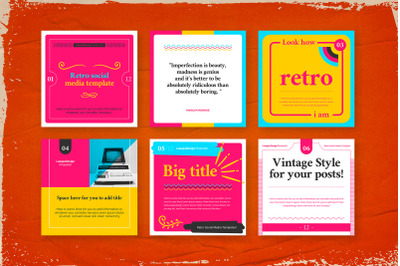 Retro Social Media Pack Template