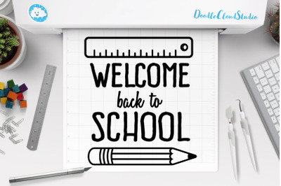 Welome Bach to School SVG, School SVG Files
