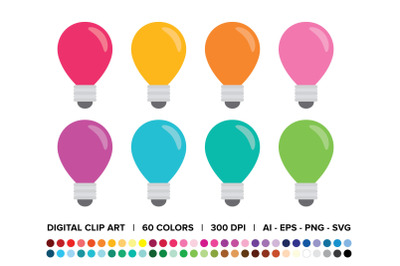 Light Bulb Clip Art Set