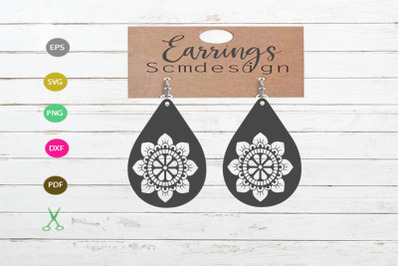 earrings svg cut file, earrings silhouette, earrings design