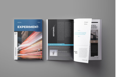 Experiment Indesign Magazine Brochure Template