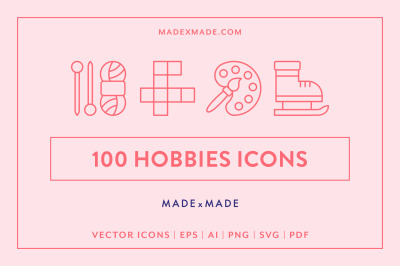 Line Icons - Hobbies