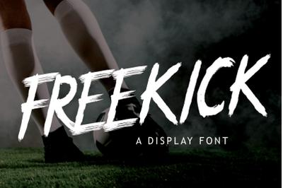 FREEKICK - Brush Font