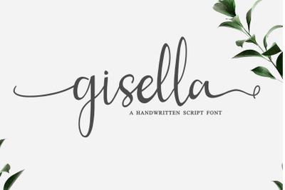 Gisella - A Script Handwritten  Font