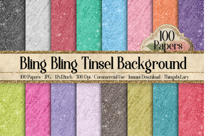 100 Metallic Foil Tinsel Curtain Background Digital Papers
