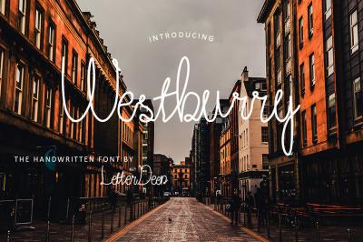 Westburry a handwritten font