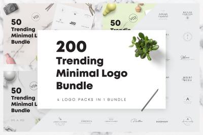 200 Trending Minimal Logo Bundle