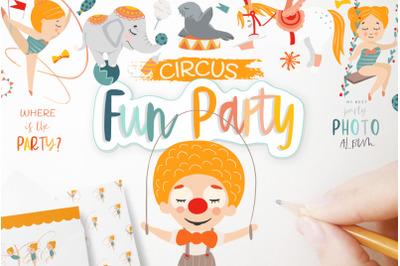 Circus. Fun party.