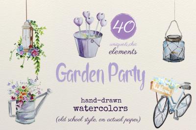 Garden Party - Watercolors
