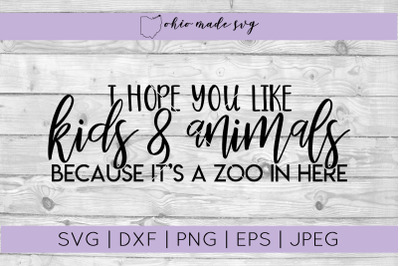 It's A Zoo In Here Welcome Mat SVG