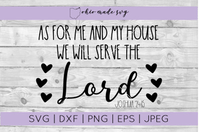 We Will Serve The Lord SVG
