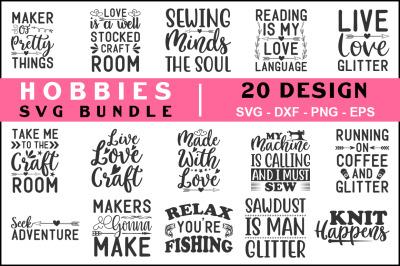 Hobbies SVG Bundle vol- 02, T shirt Design