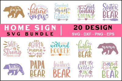 Home Sign Svg Bundle, T shirt Design