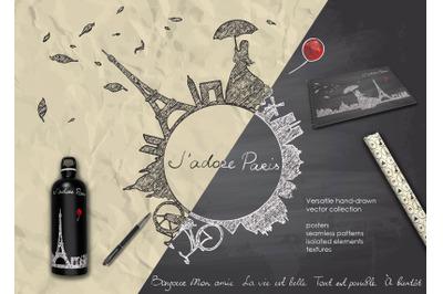 """Jadore Paris"" romantic graphic collection"
