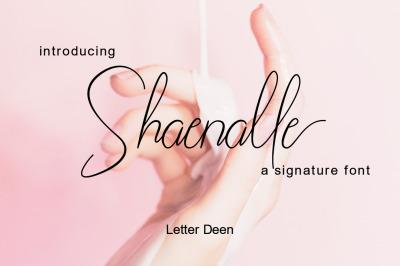 Shaenalle a Signature Font
