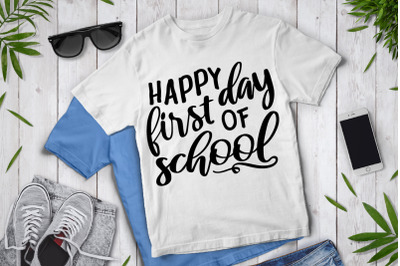 Happy First Day of School SVG,  School SVG, School Clipart .