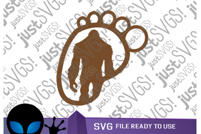 Yeti Footprint SVG