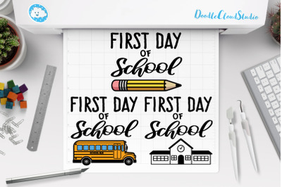First Day of School SVG, School SVG, School Clipart.